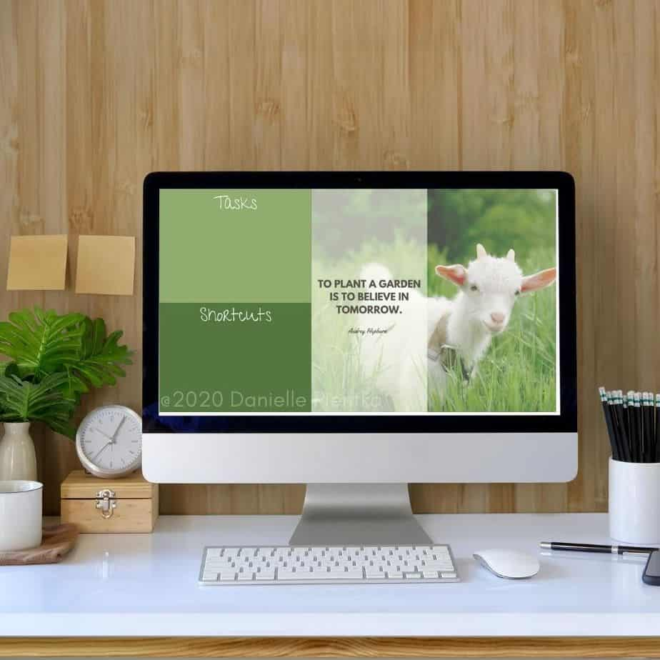 Spring Goat Background for Computer
