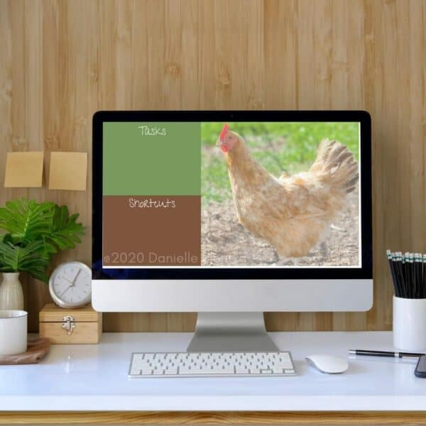 Summer themed chicken background for computer