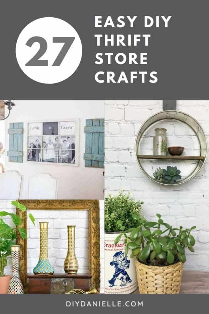 27 Easy to DIY thrift store crafts. Decorating your home doesn't have to be expensive. All you need is a quick trip to your local thrift store and a little creativity. If you need some inspiration, check out these quick and easy thrift store crafts.