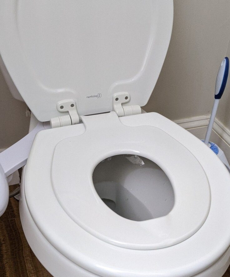 built-in potty installed