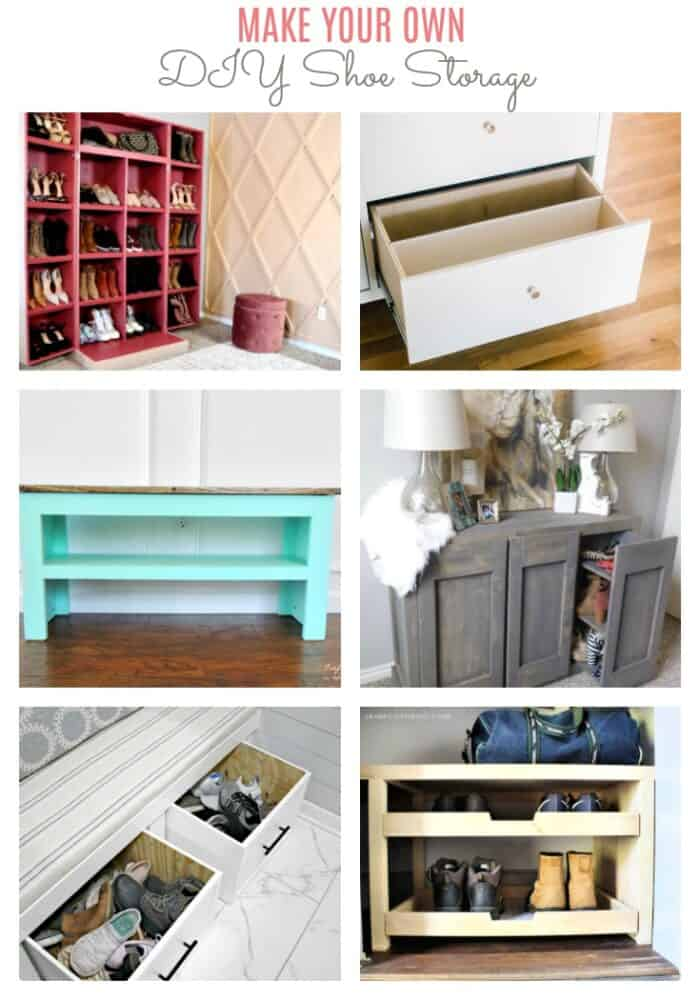 make your own DIY shoe storage