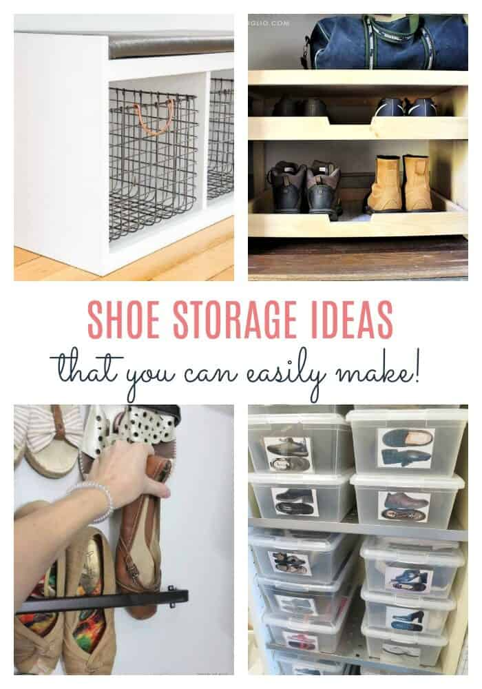 shoe storage ideas that you can easily make