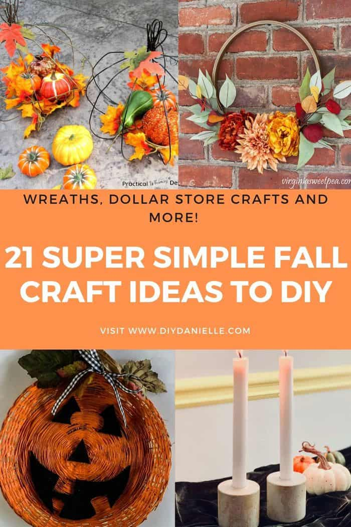 21 simple fall craft ideas