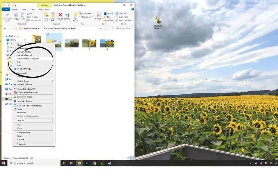 How to add a desktop wallpaper in Windows 10