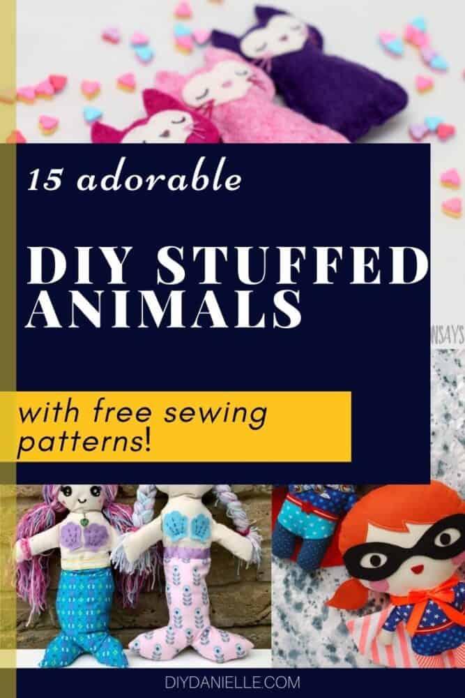 diy plush toys sewing patterns
