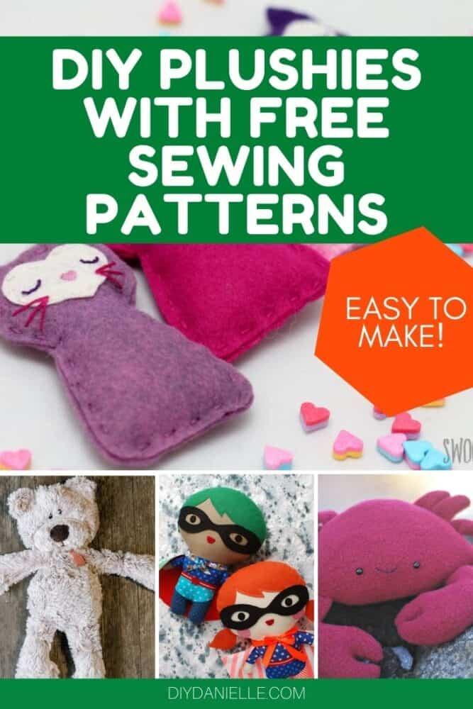diy plushies stuffed animal sewing patterns