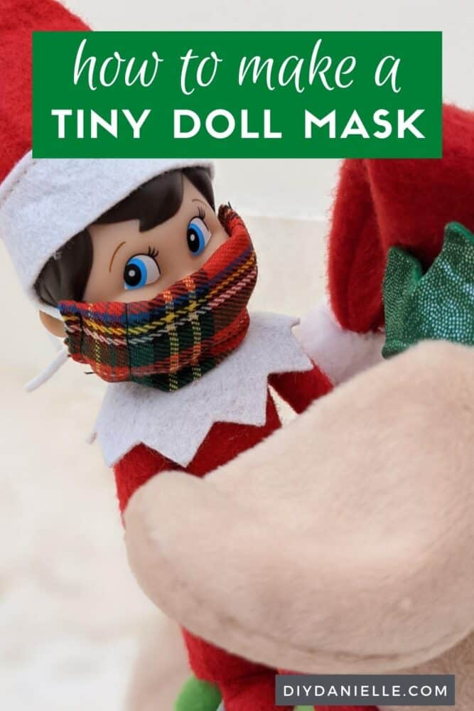 How to make a tiny doll mask for your child's dolls or for the elf on the shelf.