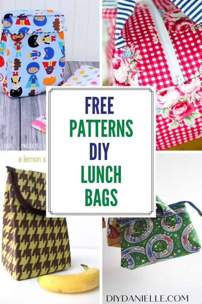 free patterns diy lunch bags