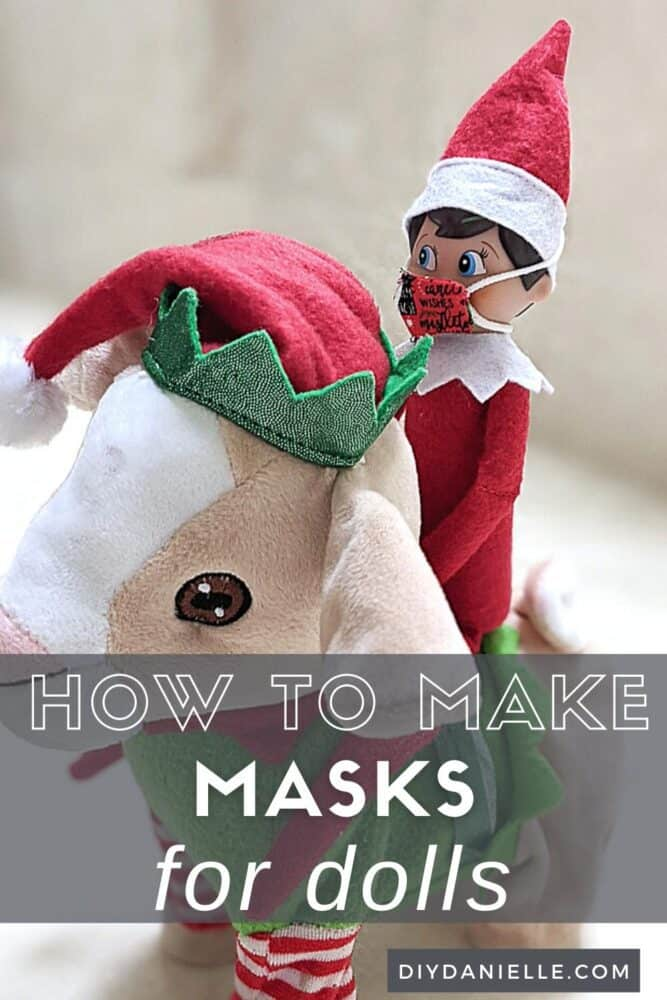 How to make masks for dolls such as the Elf on the Shelf.