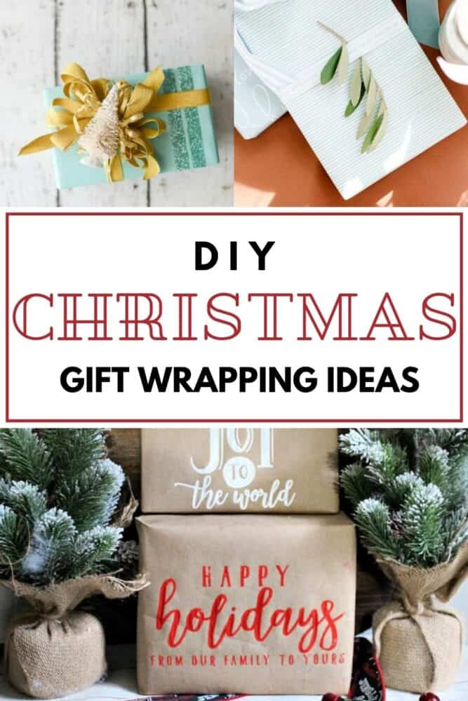 diy gift wrapping ideas for Christmas and other holidays