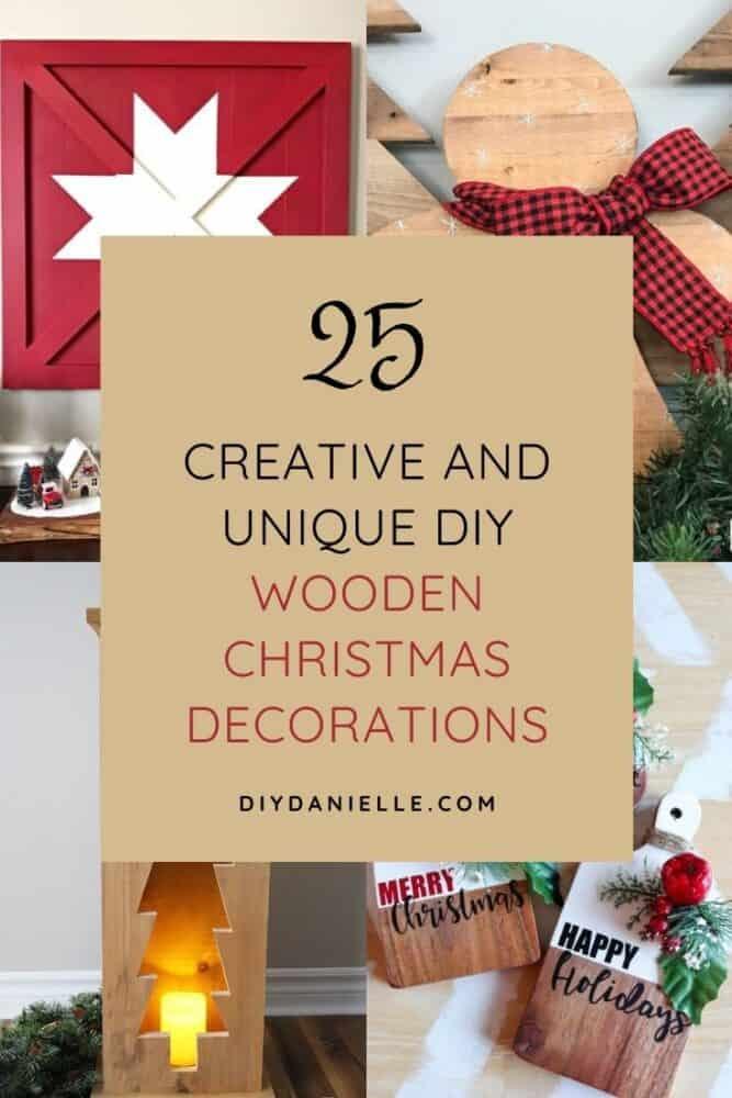 25 DIY wood Christmas decorations