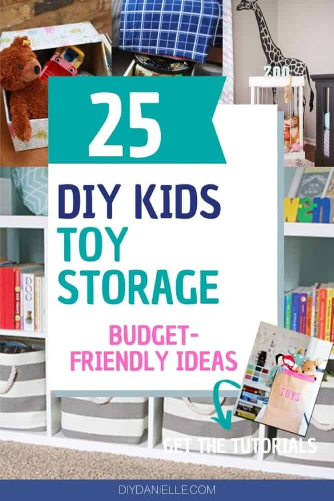 DIY Kids toy storage ideas pin image