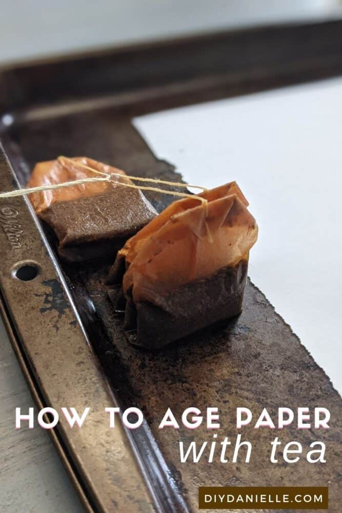 How to use tea to age paper.  This quick and easy project lets you antique paper fast!