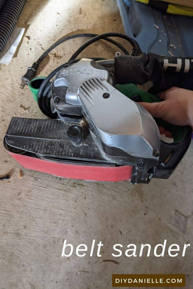 My belt sander. I don't love this sander as the cord frequently gets in the way. I want to replace it with a cordless option.