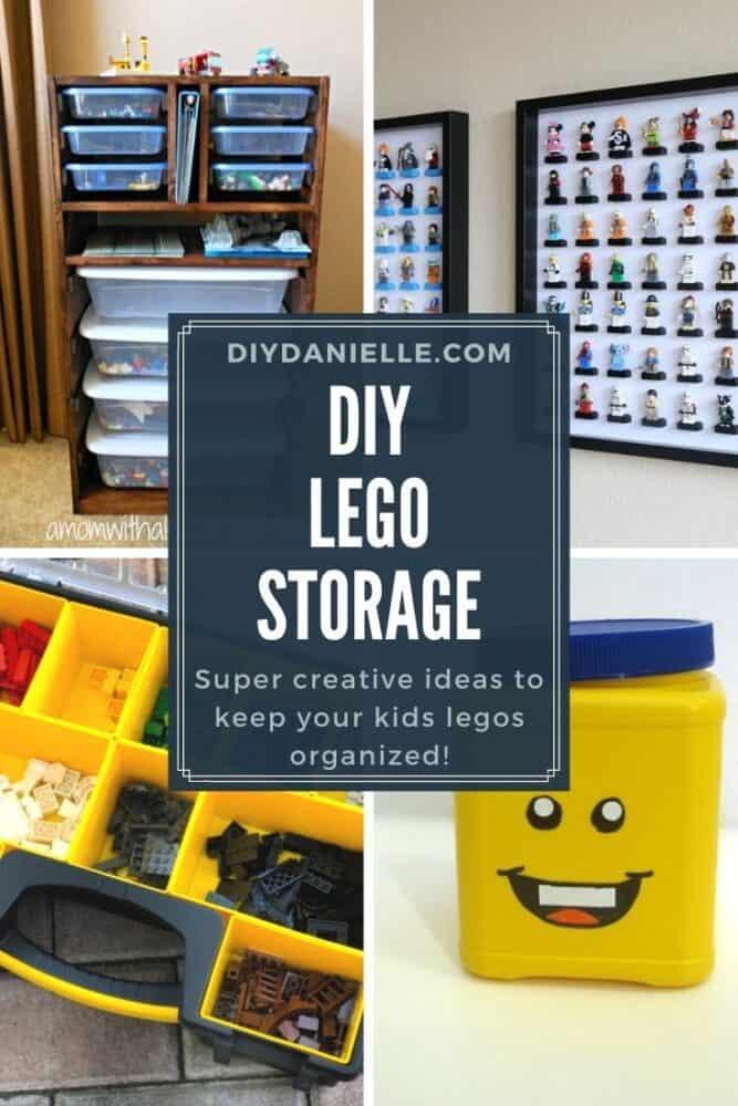 diy lego storage pin collage