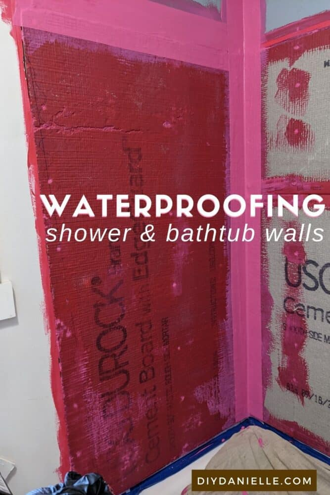 How to waterproof shower and bathtub walls to prevent water from seeping through.