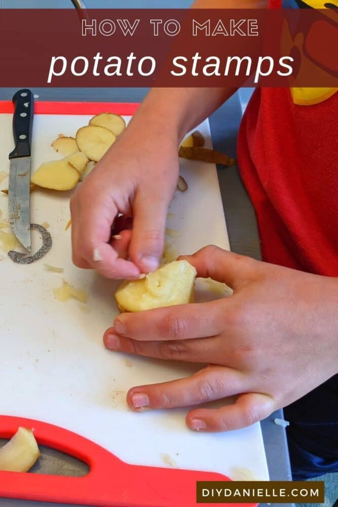 How to make potato stamps with supplies you already have at home. This is a great homeschool project!