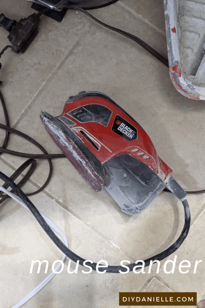 My super dirty Black and Decker mouse sander. It's pretty old but still works great!