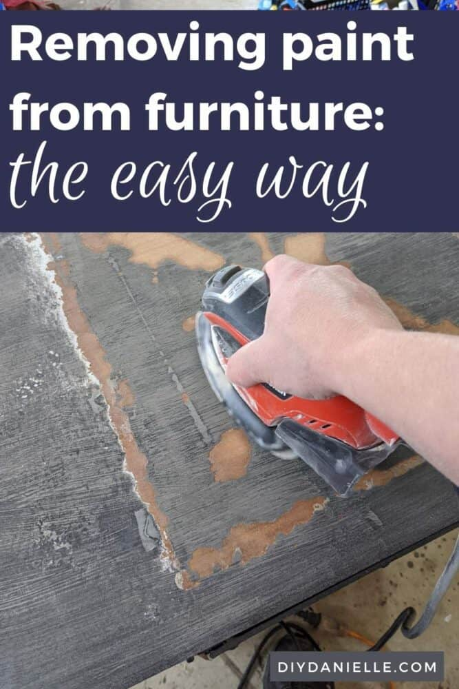 Removing paint from furniture the easy way. Hint: It's not using a sander!