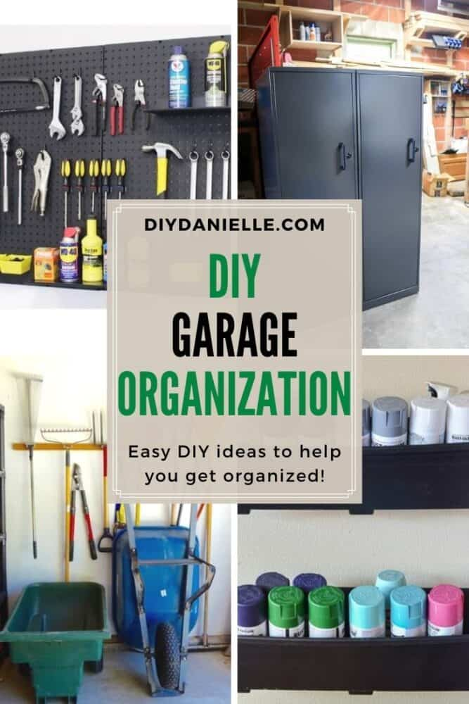 garage storage ideas with four images
