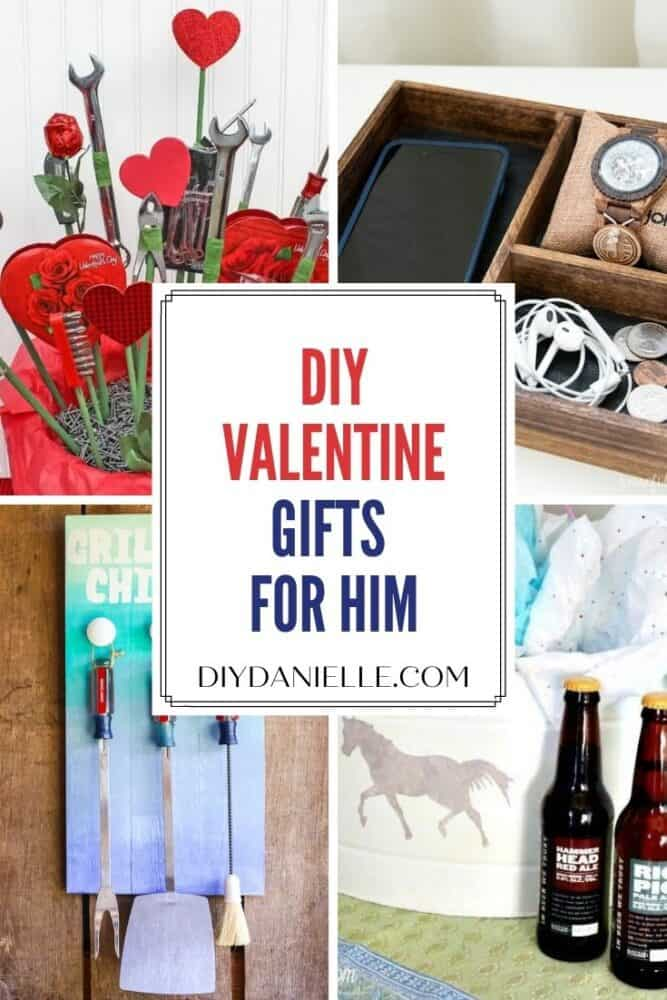 pin image Valentine gifts for him collage of 4