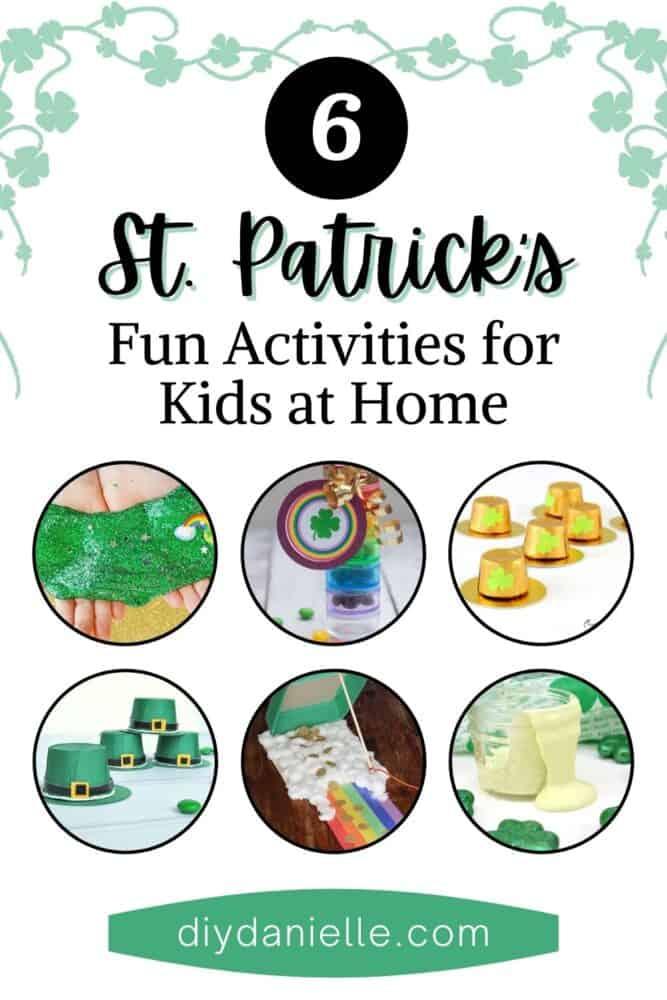 St. Patrick's Day Crafts kids collage