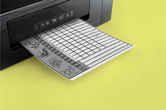 Printable form to track eggs in an incubator.