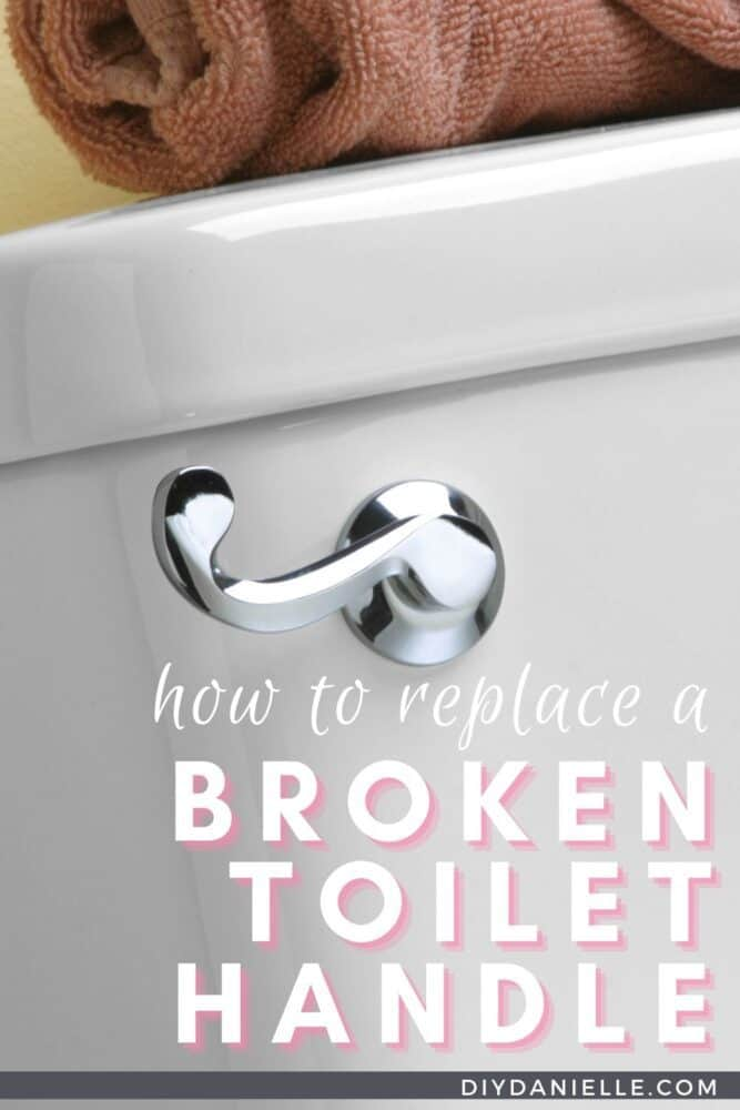 How to fix a broken toilet handle in 5 minutes. Closeup photo of a new toilet handle.