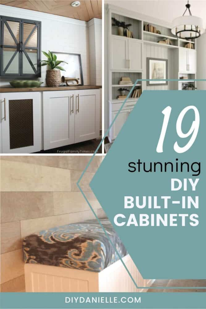 built-in cabinets with three images