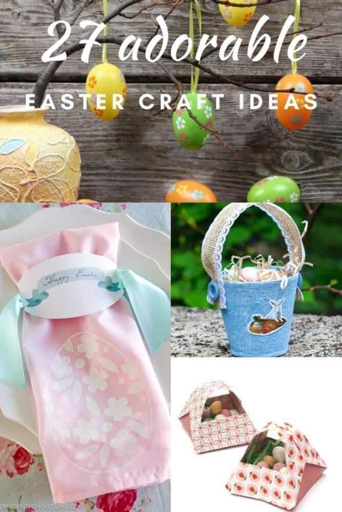 Easter craft ideas pin image
