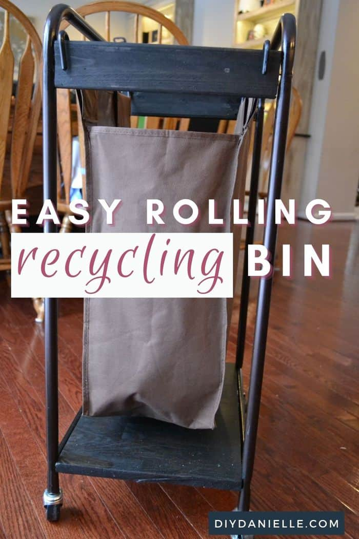 Upcycled Laundry Sorter to Recycling Bin