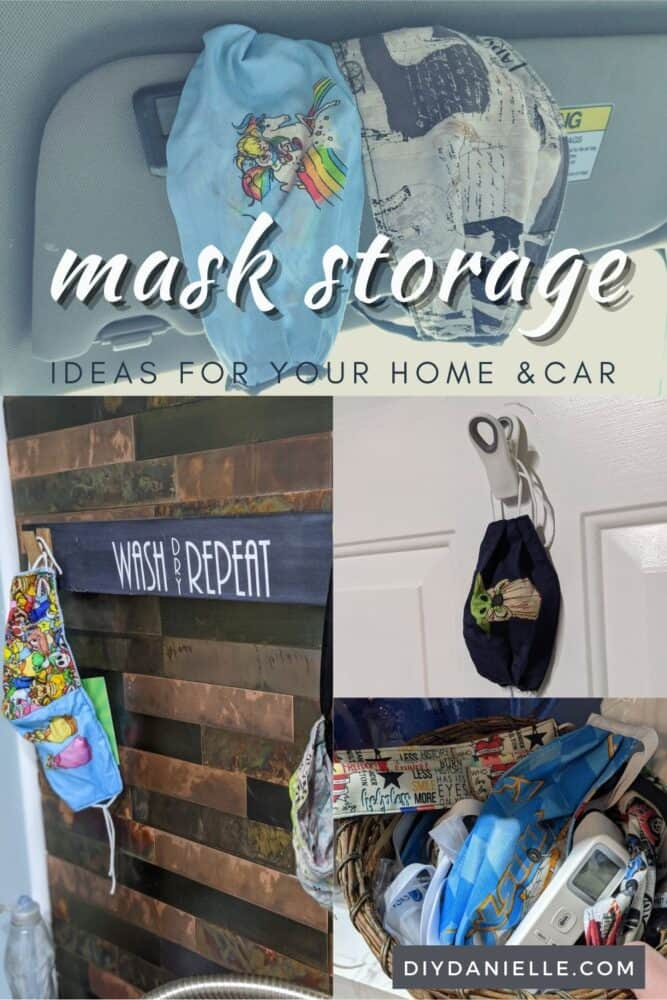 Mask storage ideas for your home and vehicle. Keep masks clean and organized with these cute ideas!