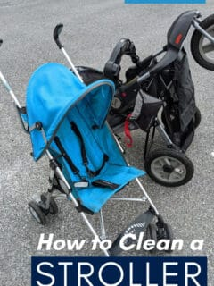 how to clean a stroller pin image with text overlay