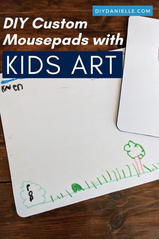 How to make custom mouse pads with your child's art! This is fun and easy with Cricut Infusible Ink Pens.