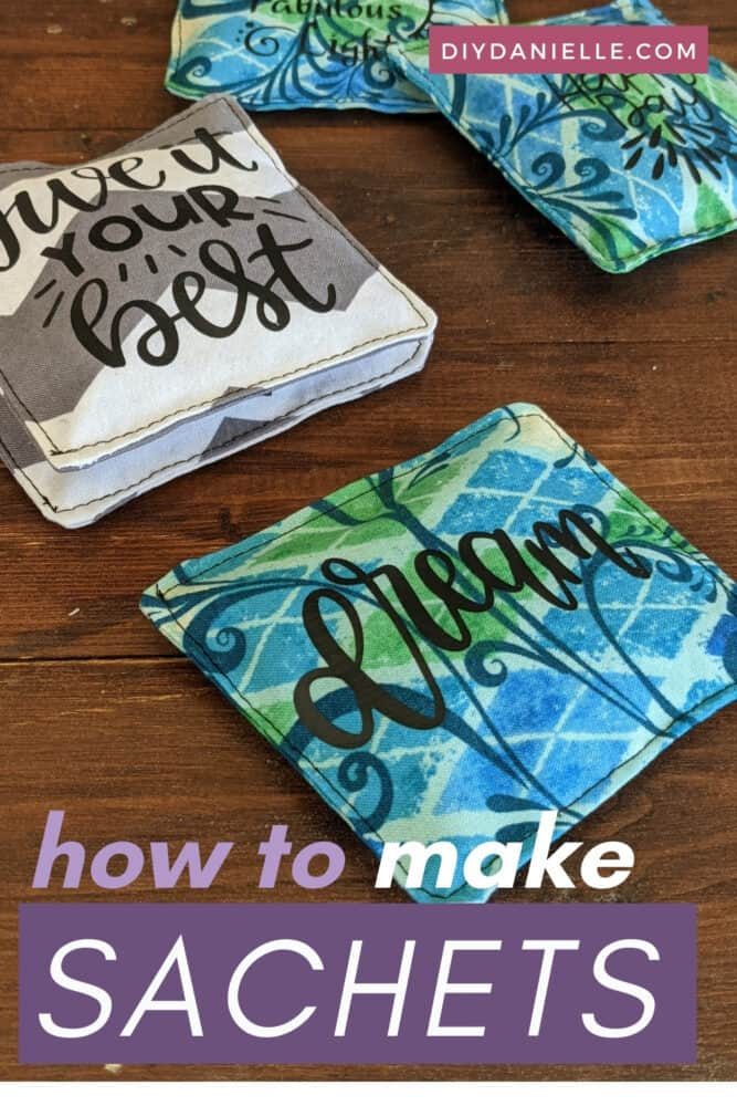 How to make sachets: Use dried lavender from your garden to make these easy to sew sachets with scrap fabric.