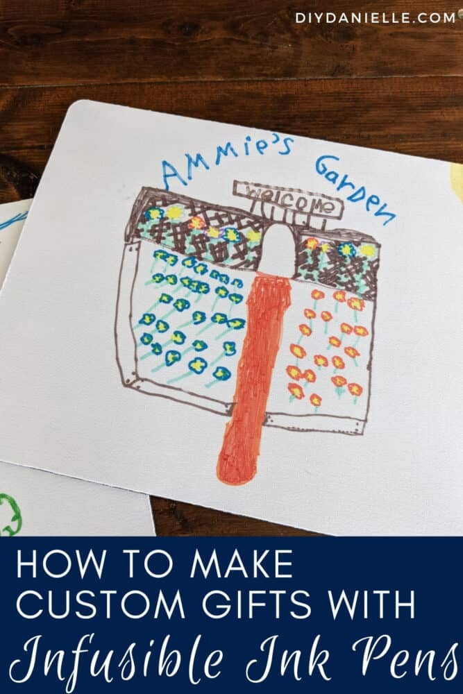 Use Infusible Ink pens to make custom gifts for Grandparents using kids' artwork!