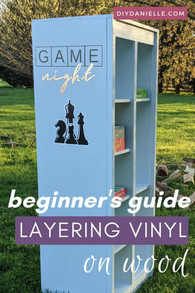 Beginner's Guide to layering vinyl on wood. This is a good guide for using permanent vinyl on wood by itself as well.