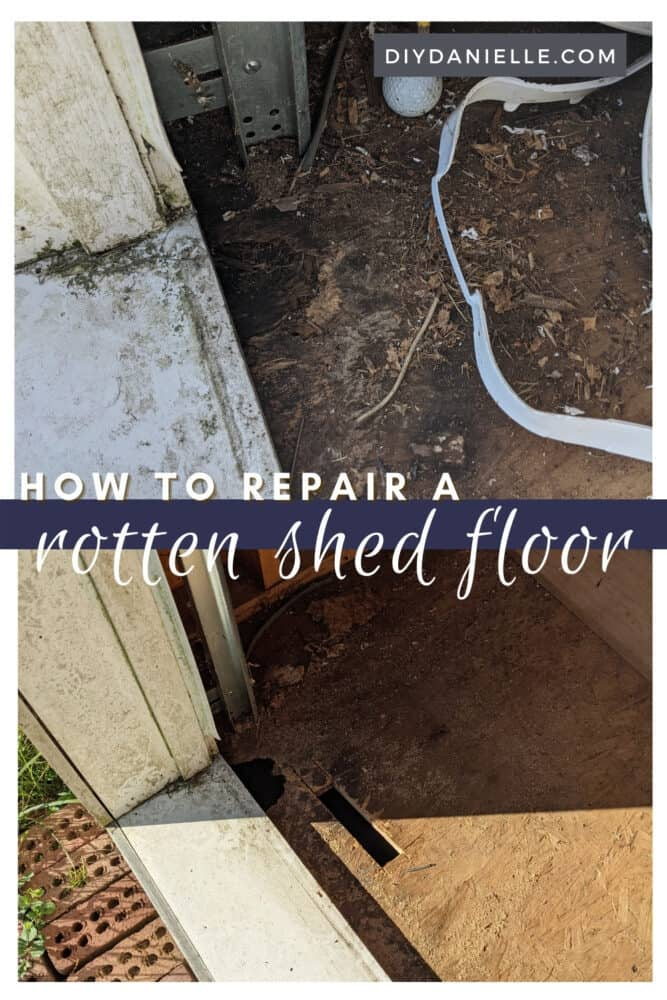 How to repair a rotten shed floor. If you have a piece of flooring that is rotten, you can cut away the bad piece and replace it easily. Here's how.