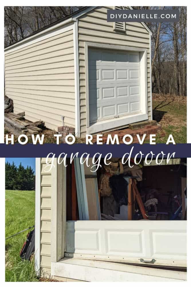 Tutorial on how to remove a garage door on a shed. This was pretty easy and step 1 on converting our shed into an office.