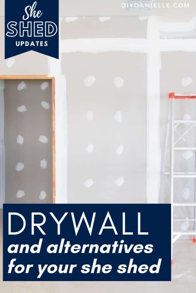 Ideas for alternatives to drywall when finishing the interior of a shed.