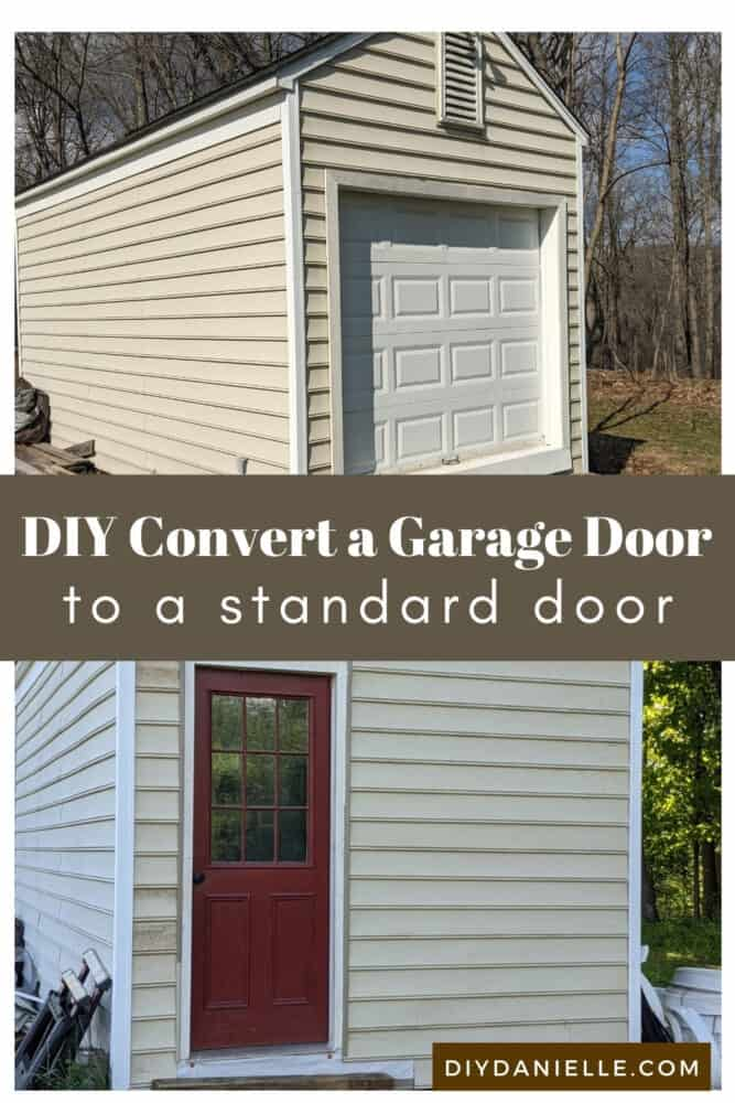 How to convert a garage door to a standard door by framing the 'empty space'. This was an easier project than we expected!