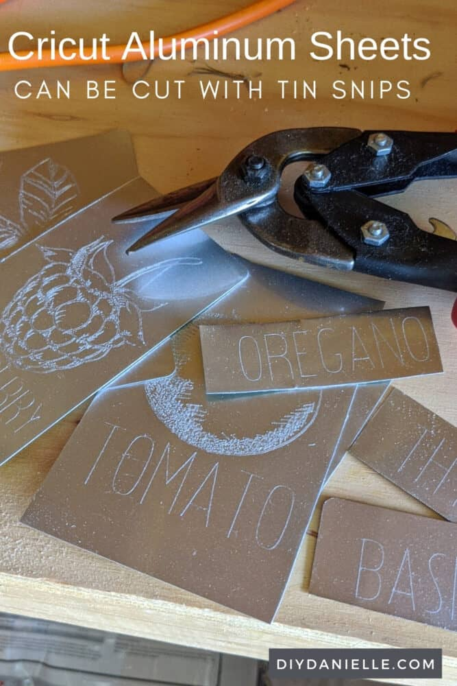 Cricut Aluminum Sheets: Cut with tin snips into custom sizes.
