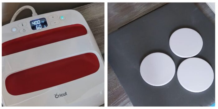 Cricut EasyPress and blanks coasters