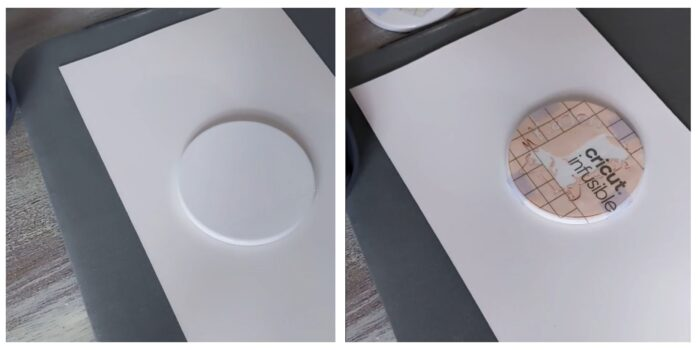 cricut blanks coaster with cricut infusible ink design