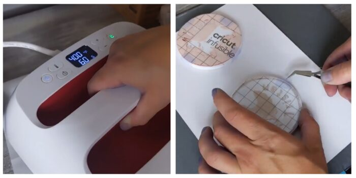 Cricut EasyPress & weeding infusible ink coasters