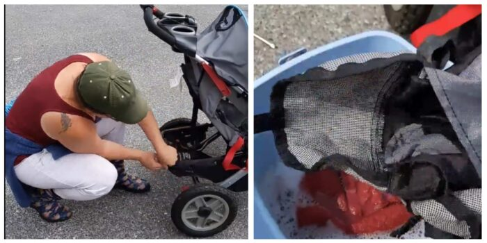 taking apart stroller for deep cleaning