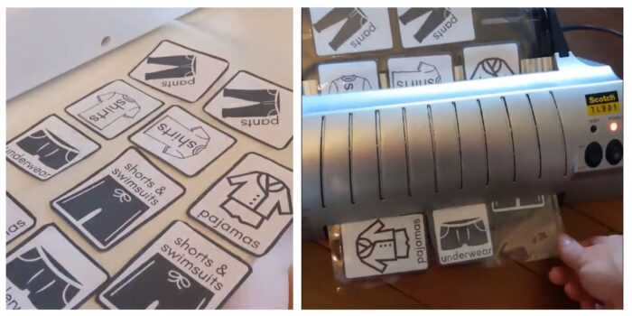 free printables for childrens organizing through laminator