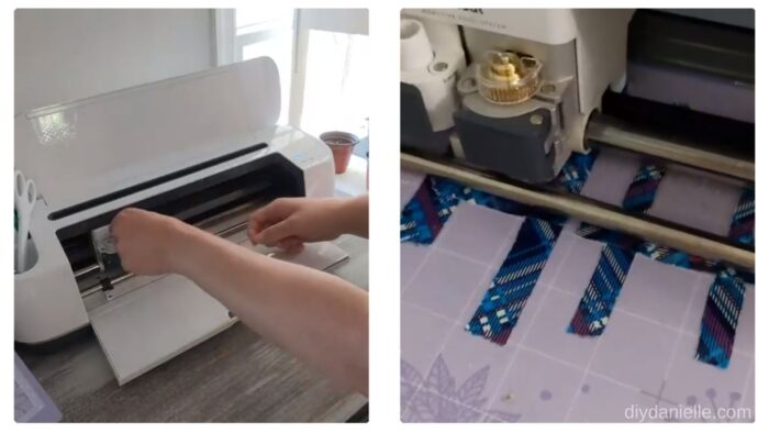 Adding the engraving tip to my Cricut Maker, then allowing the machine to engrave the design on the blanks.