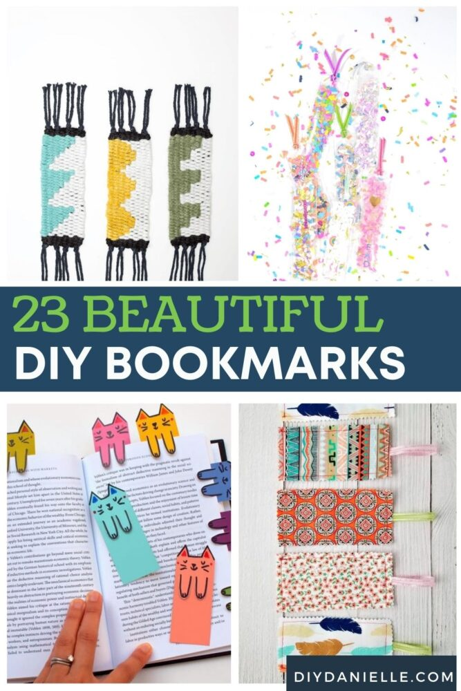 23 diy bookmarks pin collage with text overlay